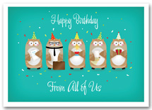 Office Party Birthday Cards